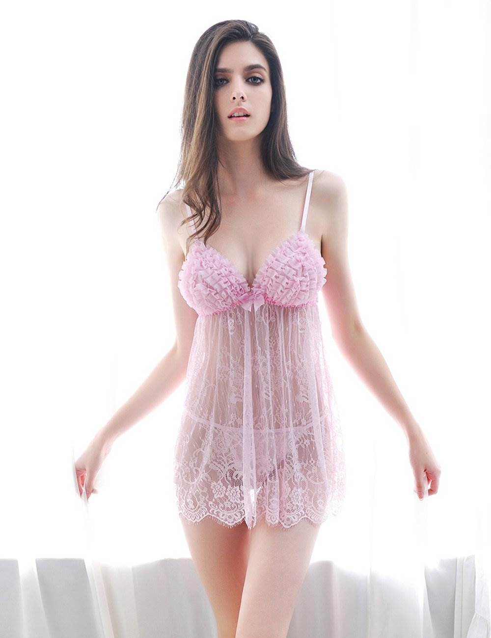 Hot Low MOQ Pink Sheer Teen Girls Sexy Lingerie
